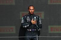 HAMILTON Lewis (gbr), Mercedes AMG F1 GP W12 E Performance, portrait podium during the Formula 1 Pirelli British Grand Prix 2021, 10th round of the 2021 FIA Formula One World Championship from July 16 to 18, 2021 on the Silverstone Circuit, in Silverstone, United Kingdom -<br /> Formula 1 GP Great Britain Silverstone 18/07/2021<br /> Photo DPPI/Panoramic/Insidefoto <br /> ITALY ONLY