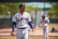 AZL Indians Red manager Jerry Owens (7) during an Arizona League game against the AZL Indians Blue on July 7, 2019 at the Cleveland Indians Spring Training Complex in Goodyear, Arizona. The AZL Indians Blue defeated the AZL Indians Red 5-4. (Zachary Lucy/Four Seam Images)