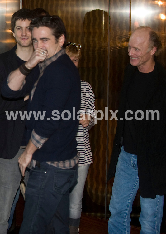 """**ALL ROUND PICTURES FROM SOLARPIX.COM**                                             **WORLDWIDE SYNDICATION RIGHTS EXCEPT SPAIN & SOUTH AMERICA - NO SYNDICATION IN SPAIN OR SOUTH AMERICA**                                                                                  Caption: Film premiere if """" The Way Back"""" in Madrid Spain                                                                             .This pic:Colin Farrell JOB REF:12592       MPA       DATE:10.12.2010                                                            **MUST CREDIT SOLARPIX.COM OR DOUBLE FEE WILL BE CHARGED**                                                                      **MUST AGREE FEE BEFORE ONLINE USAGE**                               **CALL US ON: +34 952 811 768 or LOW RATE FROM UK 0844 617 7637**"""