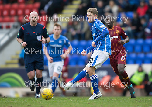 St Johnstone v Motherwell…20.02.16   SPFL   McDiarmid Park, Perth<br />David Wotherspoon<br />Picture by Graeme Hart.<br />Copyright Perthshire Picture Agency<br />Tel: 01738 623350  Mobile: 07990 594431