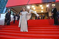 Claudia Cardinale sur le tapis rouge pour la soirée dans le cadre de la journée anniversaire de la 70e édition du Festival du Film à Cannes, Palais des Festivals et des Congres, Cannes, Sud de la France, mardi 23 mai 2017.