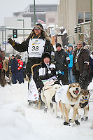 Scott Janssen leaves the 2011 Iditarod ceremonial start line in downtown Anchorage, during the 2012 Iditarod..Jim R. Kohl/Iditarodphotos.com