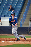 Ryan Reynolds (20) of Ouachita Christian School in Monroe, Louisiana playing for the New York Mets scout team during the East Coast Pro Showcase on July 29, 2015 at George M. Steinbrenner Field in Tampa, Florida.  (Mike Janes/Four Seam Images)