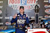 NASCAR XFINITY Series<br /> Food City 300<br /> Bristol Motor Speedway, Bristol, TN USA<br /> Friday 18 August 2017<br /> Kyle Busch, NOS Rowdy Toyota Camry, celebrates in victory lane.<br /> World Copyright: John K Harrelson<br /> LAT Images