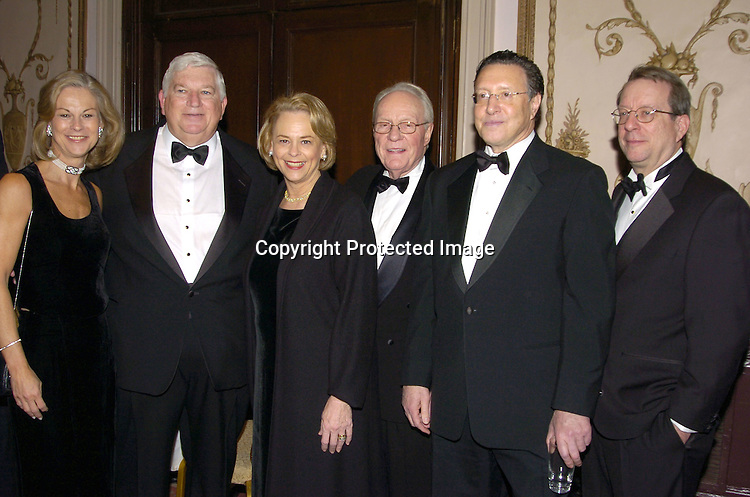 Christie Hefner, Don Logan, Ann Moore, Dick Stolley, Norman Pearlstine  and John Huey..at The Magazine Publishers of America's Henry Johnson Fisher Awards Dinner on January 26, 2005 at The Waldorf..Astoria Hotel. ..Photo by Robin Platzer, Twin Images