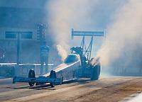 Oct 11, 2019; Concord, NC, USA; NHRA top fuel driver Justin Ashley during qualifying for the Carolina Nationals at zMax Dragway. Mandatory Credit: Mark J. Rebilas-USA TODAY Sports