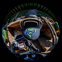 12 June 2021: A Vermont Lake Monsters batting helmet is ready in the dugout prior to a game against the Westfield Starfires at Centennial Field in Burlington, Vermont. The Lake Monsters defeated the Starfires 4-1 at Centennial Field, in Burlington, Vermont. Mandatory Credit: Ed Wolfstein Photo *** RAW (NEF) Image File Available ***