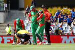 Running repairs. ICC Cricket World Cup 2015, Bangladesh v Scotland, 5 March 2015,  Saxton Oval, Nelson, New Zealand, <br /> Photo: Marc Palmano/shuttersport.co.nz