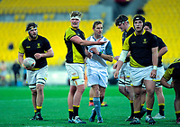 Action from the Central Region Shield under-19 rugby match between Wellington and Hurricanes Heartland at Westpac Stadium in Wellington, New Zealand on Friday, 23 August 2019. Photo: Dave Lintott / lintottphoto.co.nz