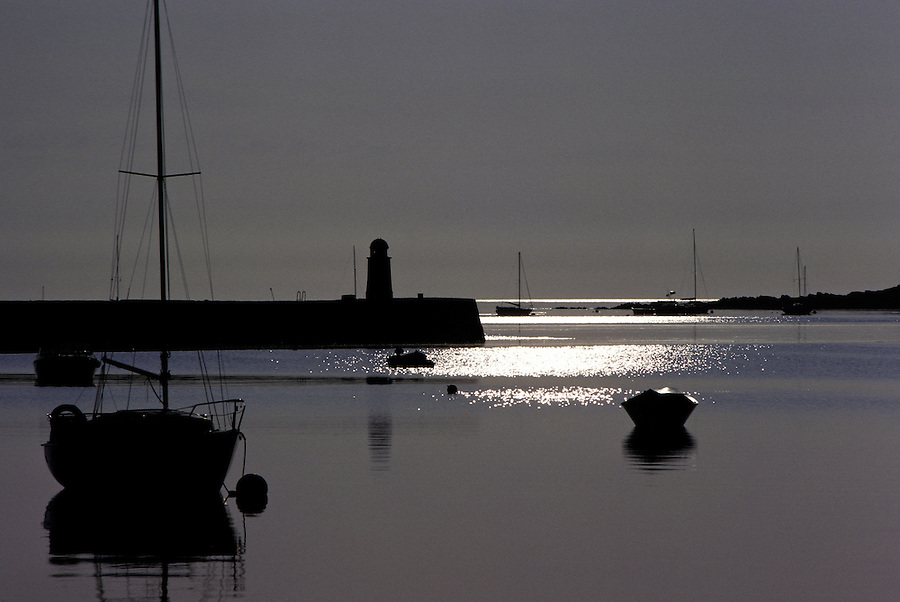 Derbyhaven Breakwater And Lighthouse, Isle Of Man.