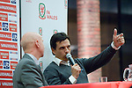 The new Welsh Football Manager Chris Coleman at the Waterfront Museum in Swansea where he held a question and answer sessions with Welsh football fans.
