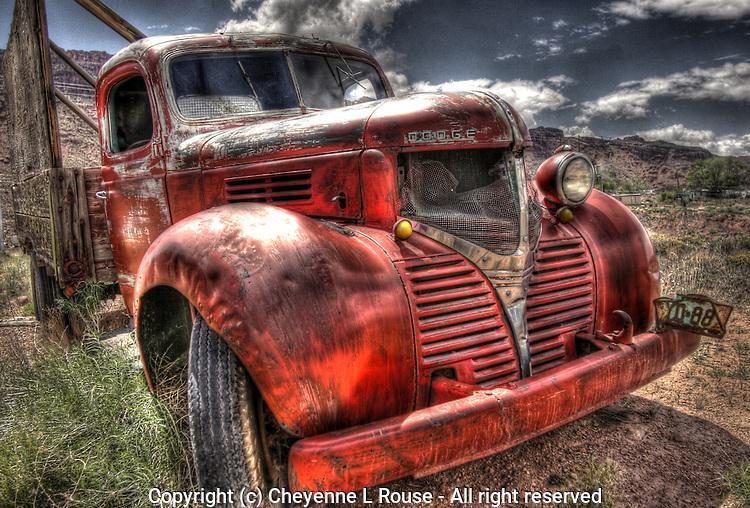 Red Dodge Bootlegger Truck - Utah