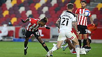 Ivan Toney of Brentford heads the ball just wide of the Rotherham goal during Brentford vs Rotherham United, Sky Bet EFL Championship Football at the Brentford Community Stadium on 27th April 2021