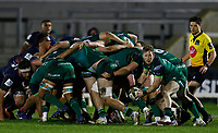 13th March 2021; Galway Sportsgrounds, Galway, Connacht, Ireland; Guinness Pro 14 Rugby, Connacht versus Edinburgh; Kieran Marmion plays the ball out of the Connacht scrum