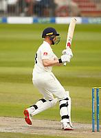 28th May 2021; Emirates Old Trafford, Manchester, Lancashire, England; County Championship Cricket, Lancashire versus Yorkshire, Day 2; Luke Wells of Lancashire at bat