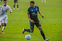 SAN JOSE, CA - SEPTEMBER 13: Marcos Lopez #27 of the San Jose Earthquakes during a game between Los Angeles Galaxy and San Jose Earthquakes at Earthquakes Stadium on September 13, 2020 in San Jose, California.