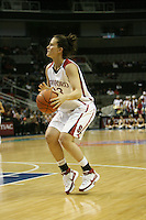 9 March 2008: Stanford Cardinal Jillian Harmon during Stanford's 78-45 win against the UCLA Bruins in the 2008 State Farm Pac-10 Women's Basketball tournament at HP Pavilion in San Jose, CA.