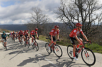 14th March 2020, Paris to Nice cycling tour, final day, stage 7;  HAMILTON Chris of Team Sunweb and KRAGH ANDERSEN S¯ren of Team Sunweb in action during stage 7 of the 78th edition of the Paris - Nice cycling race, a stage of 166,5km with start in Nice and finish in Valdeblore La Colmiane on March 14, 2020 in Valdeblore La Colmiane, France