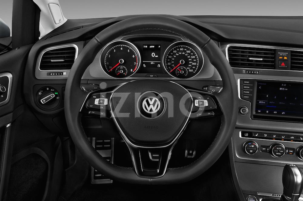 Car pictures of steering wheel view of a 2017 Volkswagen Golf-Alltrack SEL 5 Door Wagon Steering Wheel