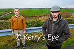 Residents Aidan Prendeville (front) with Johnny O'Grady from Ballyduff and Lixnaw standing at Ballinagare Bog on Saturday morning and are concerned about the proposed site of a Wind Farm in the Lixnaw area.