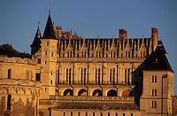 Europe/France/Centre/37/Indre-et-Loire/Amboise: Le château dans la lumière du soir