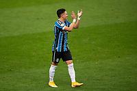 14th October 2020; Arena de Gremio, Porto Alegre, Brazil; Brazilian Serie A, Gremio versus Botafogo; Pepe of Gremio celebrates his goal in the 48th minute 2-1