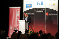 Montreal, CANADA, March 30, 2015.<br /> <br /> Jose Boisjoli, President & CEO of BRP, delivers a speech to the Canadian Club of Montreal<br /> <br /> PHOTO : Pierre Roussel - Agence Quebec Presse