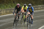 The breakaway group in action during the 2018 Strade Bianche Women Elite NamedSport race running 136km from Siena to Siena, Italy. 3rd March 2018.<br /> Picture: LaPresse/Fabio Ferrari | Cyclefile<br /> <br /> <br /> All photos usage must carry mandatory copyright credit (© Cyclefile | LaPresse/Fabio Ferrari)