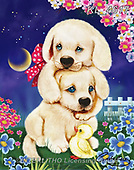 Catalea,Interlitho-Alfredo, CUTE ANIMALS, LUSTIGE TIERE, ANIMALITOS DIVERTIDOS, paintings+++++,2 dogs,KL4617,#ac#, EVERYDAY ,puzzle,puzzles