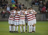 Stanford, Ca - Sunday, November 5, 2017: Stanford Men's Soccer Team  during a Stanford men's soccer match against San Diego State at Maloney Field.