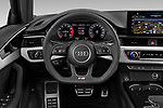 Car pictures of steering wheel view of a 2020 Audi A4 S-Line 5 Door Wagon