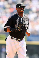 August 15 2008:  Center Fielder Ken Griffey Jr. of the Chicago White Sox during a game at U.S. Cellular Field in Chicago, IL.  Photo by:  Mike Janes/Four Seam Images