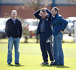 Ally McCoist with Mark Reilly and Andy Millen