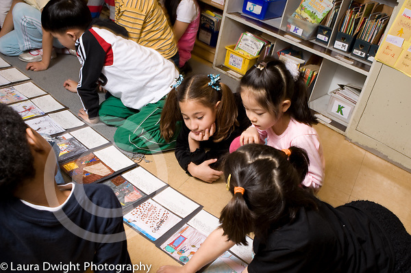 Education Elementary School New York grade 2 language arts activity sequencing a story that was read aloud to class horizontal