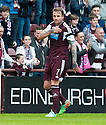 Hearts' Ryan Stevenson (7) celebrates after he scores their first goal.