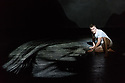 """Simon McBurney's production of Mozart's """"The Magic Flute"""" returns to English National Opera. Set design by Michael Levine, costume design by Nicky Gillibrand, with revival lighting design by Mike Gunning, and video design by Finn Ross. Picture shows: Rupert Charlesworth (Tamino)"""