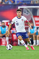 5th September 2021; Nashville, TN, USA;  United States forward Christian Pulisic on the ball during a CONCACAF World Cup qualifying match between the United States and Canada on September 5, 2021 at Nissan Stadium in Nashville, TN.