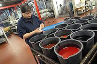 - silk printing plant in Como province....- stamperia di seta in provincia di Como