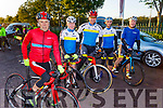 """Manor West Cycling Club members Michael Mannix, Matt Lacey, Daithi Creedon, Paul Lynch and Michael O'Connell taking part in the Tom Crean """"Unsung Hero"""" Cycle fundraiser in the Ballyseede Garden Centre on Saturday."""