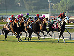 Oct. 15, 2011.Ultimate Eagle ridden by Martin Pedroza, leading in the stretch, wins the Oak Tree Derby at Santa Anita Park, Arcadia, CA