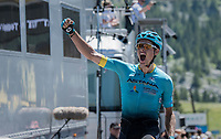Jakob Fuglsang (DEN/Astana) wins the 69th Critérium du Dauphiné 2017 in a thrilling finale<br /> <br /> Stage 8: Albertville > Plateau de Solaison (115km)