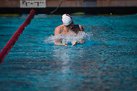 STANFORD, CA - February 17, 2018: Matt Anderson at Avery Aquatic Center. The Stanford Cardinal defeated the California Golden Bears 151-149 on Senior Day.