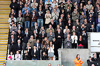 Pictured: Wreath laying before the game in tribute to two local service men who died in Afghanistan.<br /> Re: Coca Cola Championship, Swansea City FC v Norwich City FC at the Liberty Stadium Swansea, south Wales. Saturday 11 April 2009.<br /> Picture by D Legakis Photography / Athena Picture Agency, Swansea 07815441513