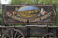 Océanie/Australie/South Australia/Australie Méridionale/Hahndorf: Enseigne du marché du village