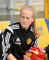 20150523 - SINT-TRUIDEN ,  BELGIUM : Belgian Silke Demeyere pictured during the friendly soccer game between the Belgian Red Flames and Norway, a preparation game for Norway for the Women's 2015 World Cup, Saturday 23 May 2015 at Staaien in Sint-Truiden , Belgium. PHOTO DAVID CATRY