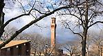 WATERBURY CT. - 02 December 2020-120220SV81-Tower from Library Park in Waterbury Wednesday.<br /> Steven Valenti Republican-American