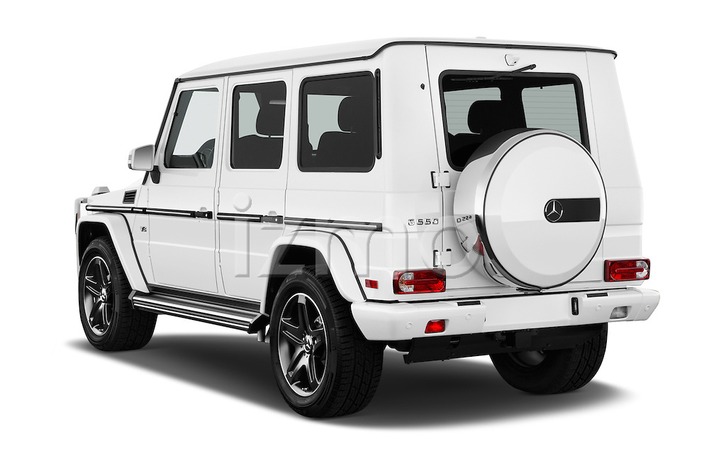 Car pictures of rear three quarter view of 2018 Mercedes Benz G-Class G550 5 Door SUV Angular Rear
