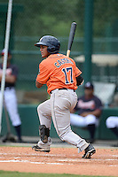 Houston Astros catcher Ruben Castro (17) during an Instructional League game against the Atlanta Braves on September 22, 2014 at the ESPN Wide World of Sports Complex in Kissimmee, Florida.  (Mike Janes/Four Seam Images)