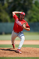 Philadelphia Phillies pitcher Waylon Richardson (61) delivers a pitch during a Florida Instructional League game against the Atlanta Braves on October 5, 2018 at the Carpenter Complex in Clearwater, Florida.  (Mike Janes/Four Seam Images)