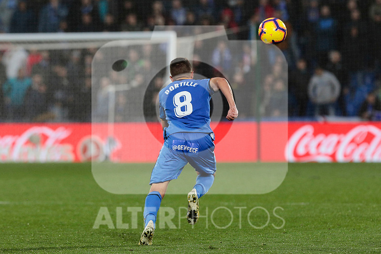 Getafe CF's Francisco Portillo during La Liga match between Getafe CF and Valencia CF at Coliseum Alfonso Perez in Getafe, Spain. November 10, 2018.